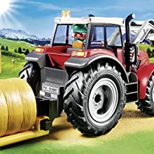 Playmobil, Country, Farm, Tractor, Large, Farmer, Figure, Hay