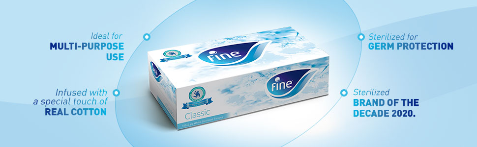 Fine sterilized tissues