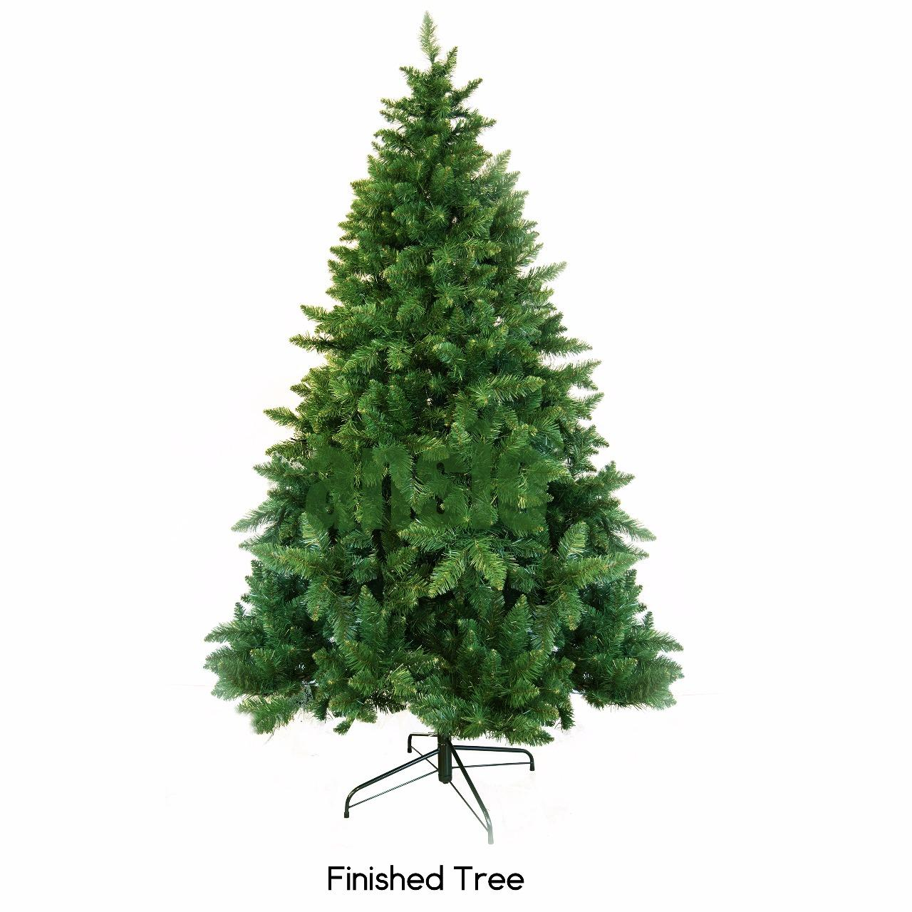 Artificial Christmas Trees Amazon Uk: Pre Lit Christmas Trees 7ft / 2.1M Artificial Christmas
