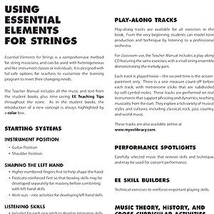 essential elements for strings, essential elements, teacher manual, string instruments, hal leonard