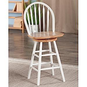 Amazon Com Winsome Wood 24 Inch Windsor Swivel Seat