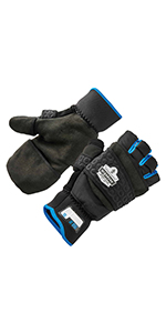 816 flip top winter thermal gloves