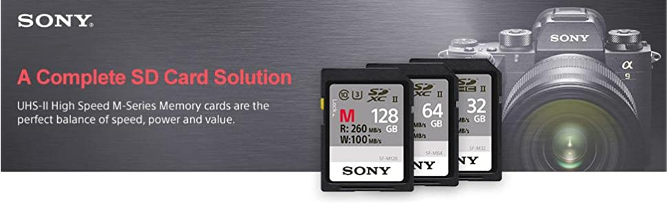 UHS-II High Speed M-Series Memory cards are the perfect balance of speed, power and value