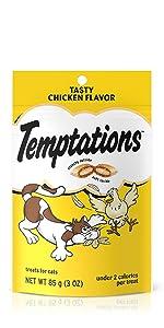 Temptations Classic Cat Treats, Crunchy Cat Treats, Soft Cat Treats, Chewy, Chewable, Snacks