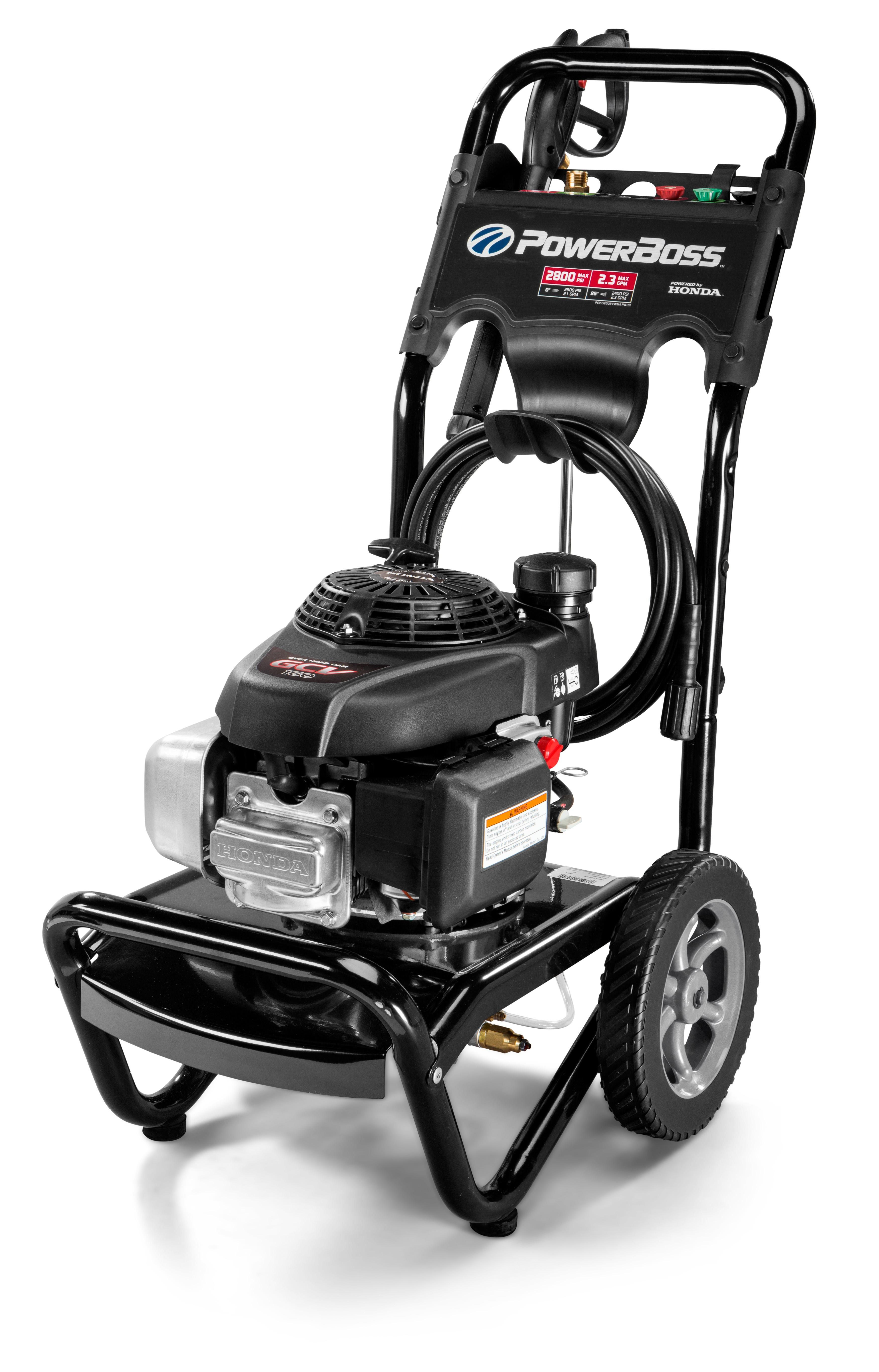 amazoncom powerboss gas pressure washer  psi  gpm powered  honda gcv engine