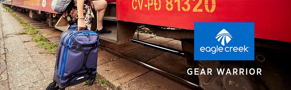 gear warrior travel explore traveling bags suitcases duffels rolling wheels durable adventure