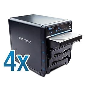 FANTEC QB-35US3-6G - Carcasa para 4 discos duros de 3.5″ con USB 3.0 & eSATA: Amazon.es: Informática