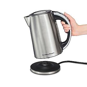 VAVA B06XXJWFZL Electric Kettle Adjustable Temperature Control Stainless Steel Tea Kettle Cordless