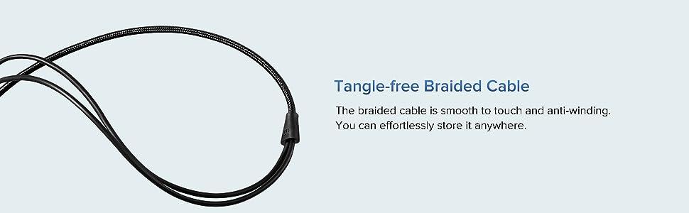 Tangle free earphone