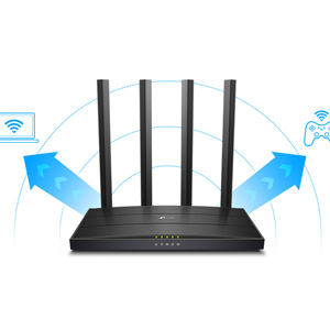 Archer C6 TP-link Tplink 1200 Mbps Speed Wireless Wi-fi WiFi Dual Band Gigabit Router Speed AC1200