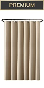 shower curtain, shower liner, fabric shower liner, waterproof shower liner, best shower liner