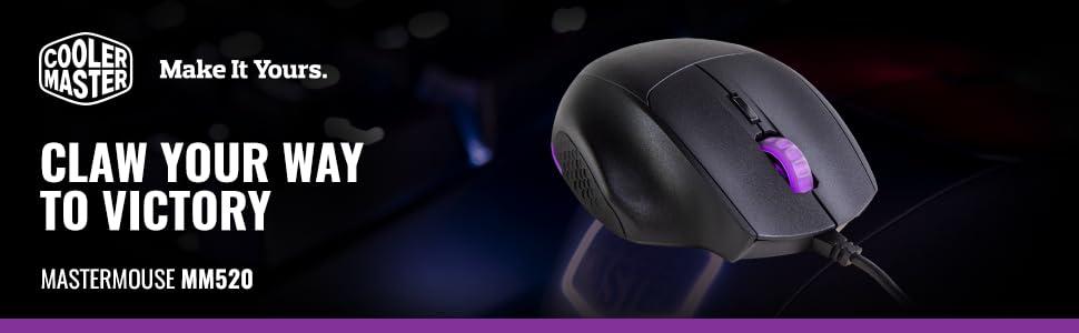 f0936381670 Amazon.com: Cooler Master SGM-2007-KLON1 MasterMouse MM520 Claw Grip ...