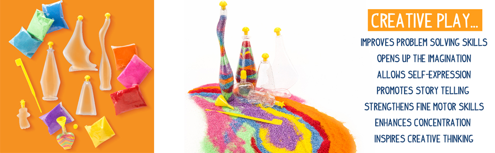 sand, art, design, create, creative play, color, imagination, thinking, creativity