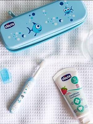 Chicco - Set dental Cepillo de dientes + Pasta Fresa con flúor 12+ ...