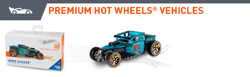 2019 Hot Wheels id BONE SHAKER ☆BLUE;HW GREATS ☆Uniquely Identifiable ☆Series 1