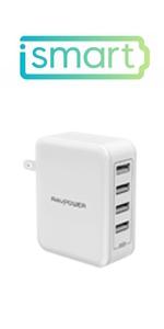 40W USB急速充電器 4ポート RP-PC026