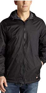 fleece lined jacket,nylon jacket, hooded jacket, black jacket, navy jacket, work jacket, carhartt