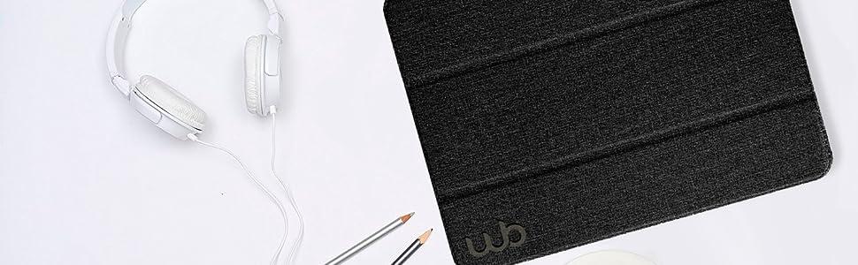 Capa iPad 7a Geração Polegadas Antichoque WB Estilo Tecido Preta