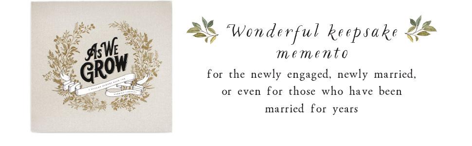 as we grow keepsake momento couple engagement marriage anniversary