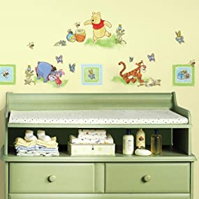 Winnie The Pooh Peel And Stick Wall Decals, Peel And Stick Wall Decals