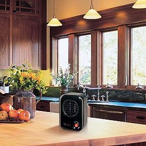 lasko myheat space heater in kitchen