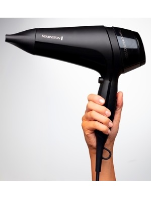 Remington Thermacare Pro Hair Dryer with Concentrator, Three Heat and Two Speeds with Cool Shot, 2.5 Metre Power Cable, 2200 W, Black, D5710