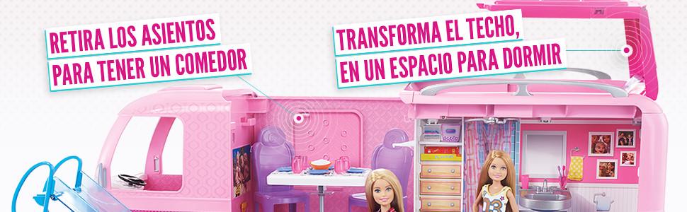 Barbie Supercaravana de Barbie, autocaravana muñeca barbie