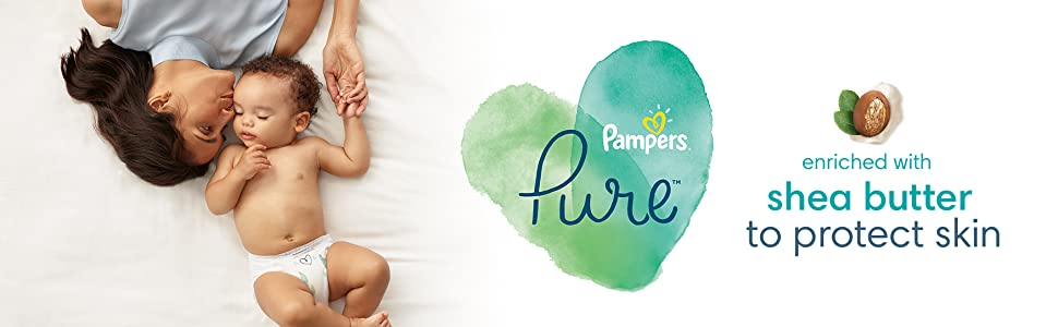 Pampers Pure enriched with shea butter to protect skin