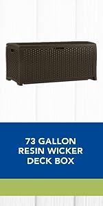 Gallon Wicker Deck Box