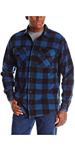 Wrangler Authentics Long Sleeve Plaid Fleece Shirt