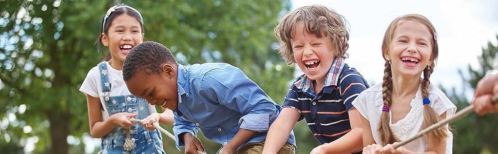 kids having fun outdoors
