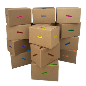 boxes box moving packing storage shipping labels