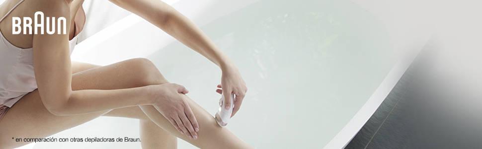 Braun Silk-épil 9 SkinSpa 9-969v - Sistema 4 en 1 de exfoliación, cuidado de la piel y depiladora