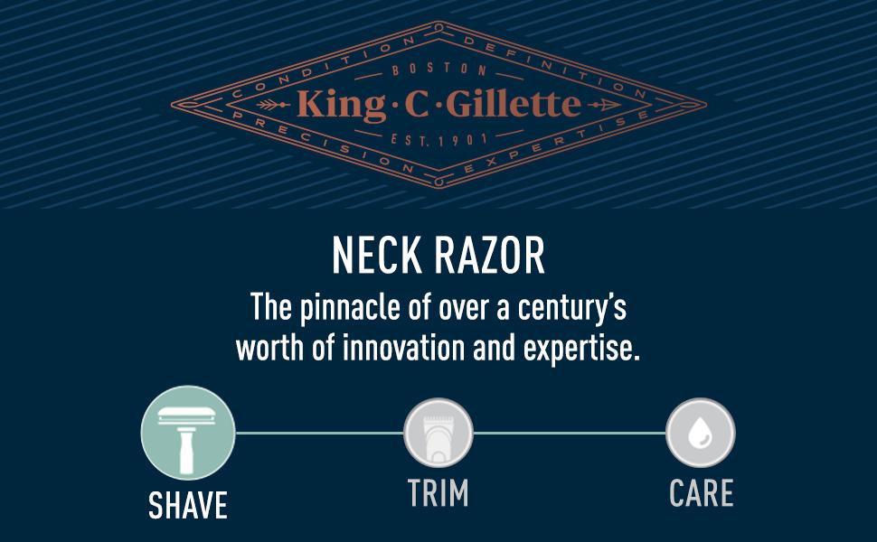king c, gillette, neck razor