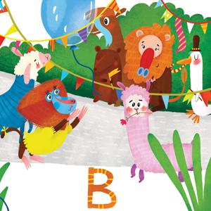 Letter B, abc kids