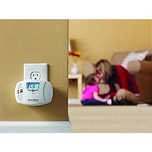 Dual-Power Carbon Monoxide Plug-In Alarm - large backlit display