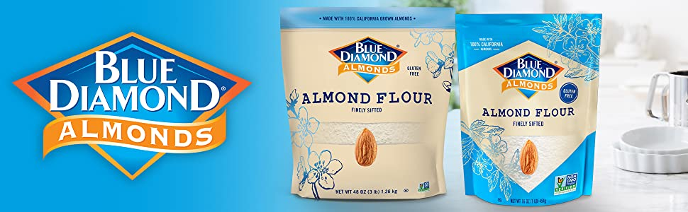almond flour blue diamond gluten free logo 3 lb value sam's club baking cooking