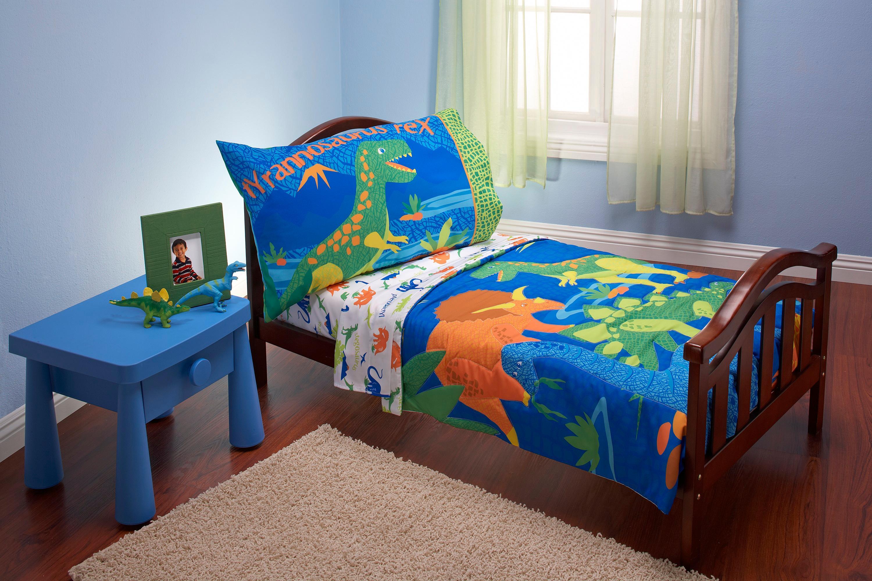 Amazon Com Everything Kids 4 Piece Toddler Bedding Set