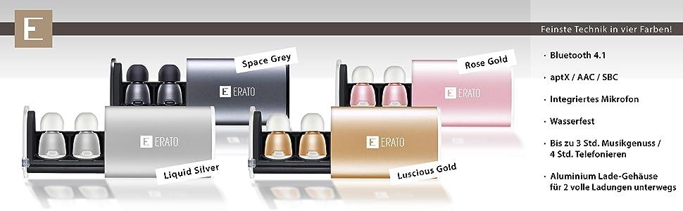 Erato Apollo 7 - True Wireless Audio Kopfhörer in Space Gray, Silber, Gold und Rose Gold erhältlich