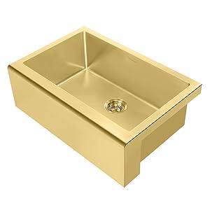 WHNPL3020, Brass, Stainless Steel, Noah Plus, Kitchen, Sink, Undermount, Grid, Drain