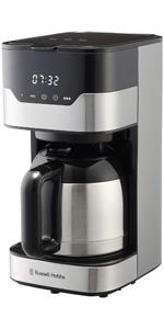 ラッセルホブス Russell Hobbs コーヒーメーカー グランドリップ 8カップ ゴールドフィルター タッチパネル式 7653JP
