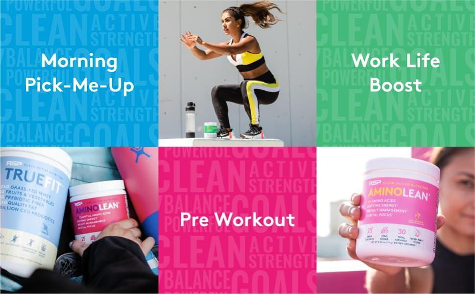amino lean pre workout for women preworkout powder bcaa energy amino energy