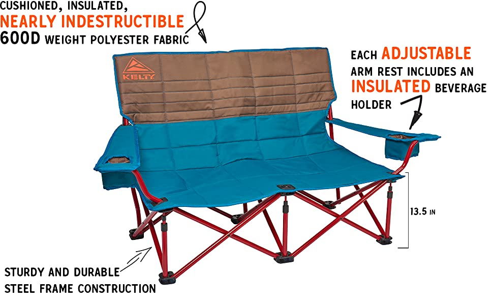 Surprising Kelty Low Loveseat Camping Chair Portable Folding Chair For Festivals Camping And Beach Days Updated 2019 Model Ibusinesslaw Wood Chair Design Ideas Ibusinesslaworg