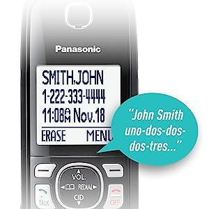 Panasonic KX-TGF545B caller id