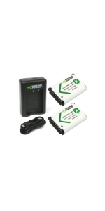 Wasabi Power 2 Batteries + Dual USB Charger Kit for Sony NP-BX1