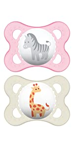 Amazon.com: MAM Perfect Night 2 Piece Baby Pacifier, Niña, 0 ...