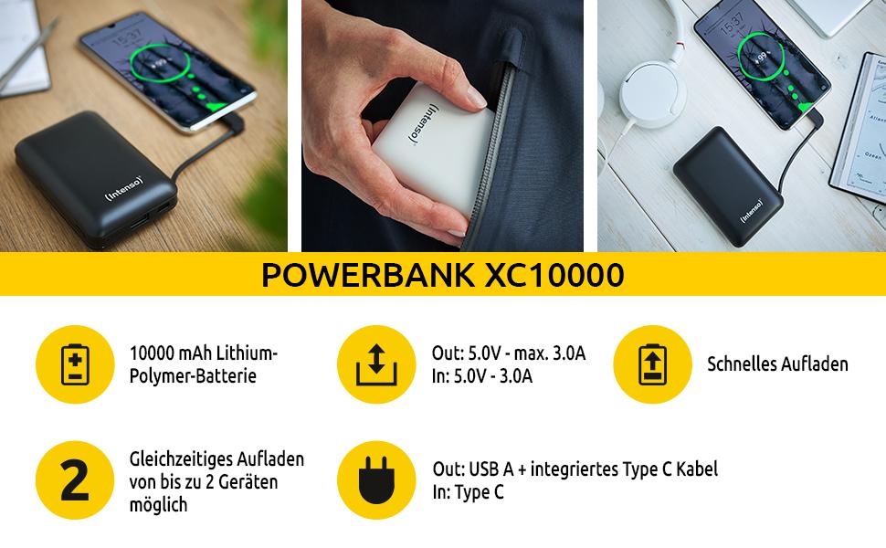 Intenso Powerbank Xc10000 Externes Ladegerät Elektronik