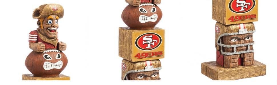 Amazon.com: Team Sports America NFL NFL Tiki Totem Unisex ...