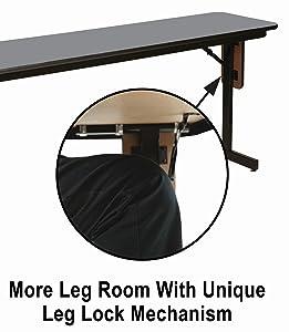 Amazon.com: Mesa de patas plegables Correll, rectangular ...