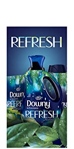 downy infusions refresh scent, botanical, fresh scent, fabric conditioner, softener, dryer, washer